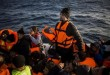 Migrants, who were lost in an open sea, ask for help from the members of the Frontex, European Border Protection Agency, from Portugal, as they try to approach on a dinghy the Greek island of Lesbos, Tuesday, Dec. 8, 2015. In another incident six children have drowned after a rubber dinghy carrying Afghan migrants to Greece sank off Turkey's Aegean coast. Turkey has stepped up efforts to stop migrants from leaving to Greece by sea. (AP Photo/Santi Palacios)