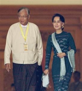 Htin Kyaw, Aung San Suu Kyi