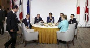 Shinzo Shinzo Abe, Jean-Claude Juncker, Donald Tusk, Francois Hollande, David Cameron, Matteo Renzi, Angela Merkel