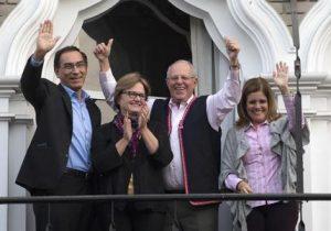Pedro Pablo Kuczynski, Nancy Lange, Mercedes Araoz, Martin Vizcarra