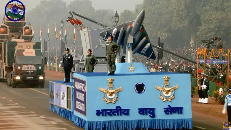 India showcases military might, historic journey at parade