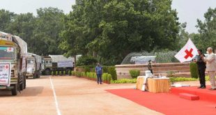 President Ram Nath Kovind flags off Red Cross relief supply for floods-affected states