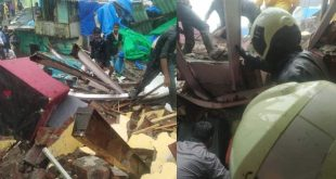 One killed, several trapped as portion of two-storey building collapses in Mumbai's Malad