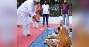 छठ महापर्व : मुख्यमंत्री नीतीश कुमार ने अस्ताचलगामी सूर्य को किया अर्घ्य अर्पित